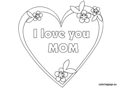 love  mom coloring page coloring page