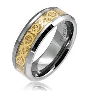 tungsten wedding rings gold celtic tungsten wedding band ring rings