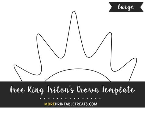 king tritons crown template large