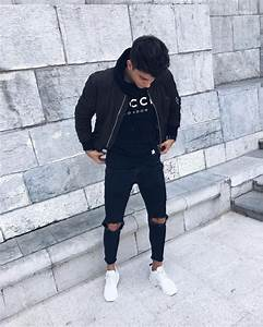What men's tops to wear with skinny black jeans? - Quora