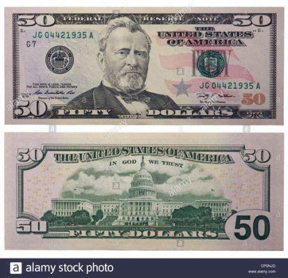 fifty dollar bill   front money template