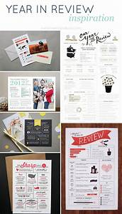 Year in review cards for Year end review template