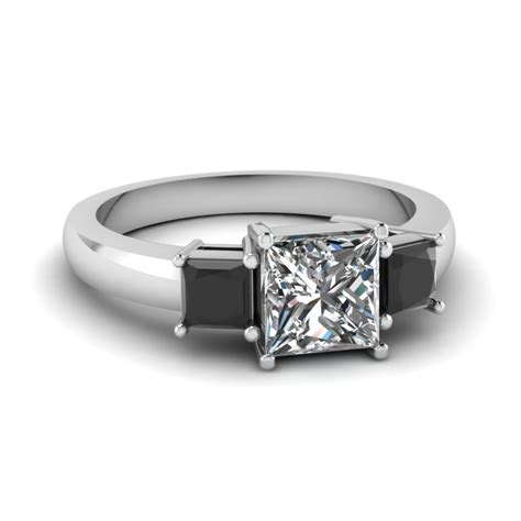 Princess Cut 3 Stone Ring With Black Diamond In 14k White. Desain Wedding Rings. Make For Other Wedding Rings. Rope Engagement Rings. Raw Engagement Rings. Brown Pear Diamond Engagement Rings. Western Engagement Rings. Promise Rings Engagement Rings. Daughter Engagement Rings
