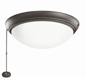 Kichler snb satin natural bronze led ceiling fan