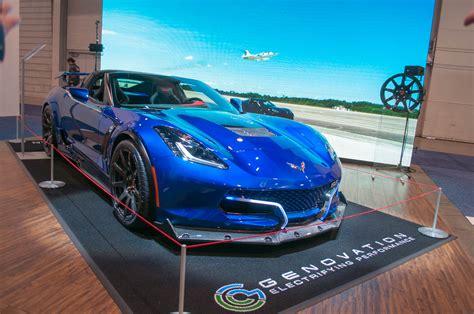 genovation  electric chevy corvette sports car debuts