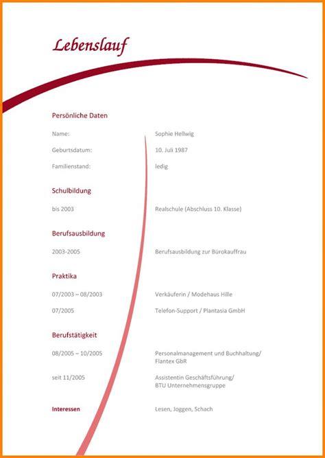 Lebenslauf Zum Ausfüllen by 15 Undergraduate Lebenslauf Vorlage Zum Ausf 252 Llen