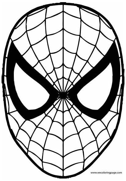 Spiderman Coloring Pages Peter Lego Parker Face