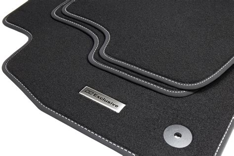 tapis de sol pour voiture et logo en acier inoxydable pour vw golf 5 v 6 vi scirocco tapis de