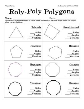 polygon cards and worksheet by donna watson teachers pay