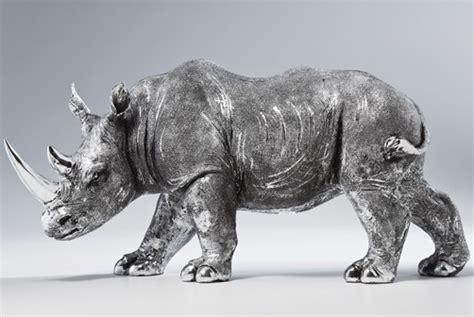 deko tiere metall deko figur nashorn rhino antique afrika zoo tierpark tiere