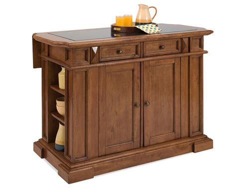 Home Styles Deluxe Island-distressed Cottage Oak