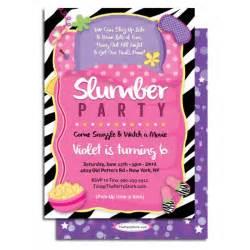 Slumber Party Birthday Invitations Printable