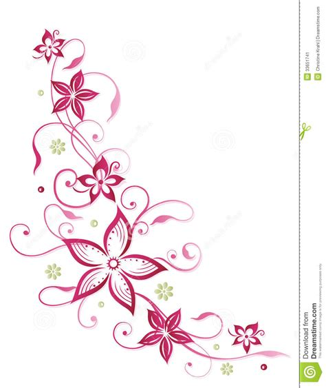 Muster Blumenranke Einfach by Floral Tendril Abstract Flowers Stock Vector