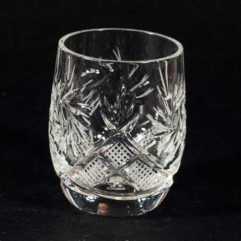 crystal shot glass  ml  pieces set russian glassware