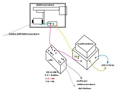 schema elettrico per elettroserratura schema elettrico