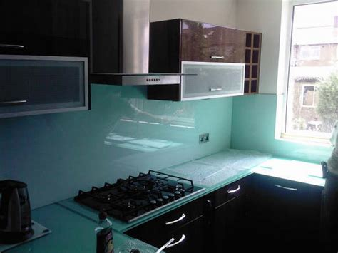 glass worktops glass splashback colour