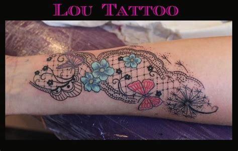 tatoo dentelle fleurs  papillons tatoo pinterest