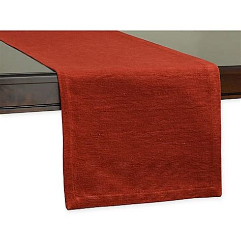 72 inch table runner buy uptown 72 inch table runner in red from bed bath beyond