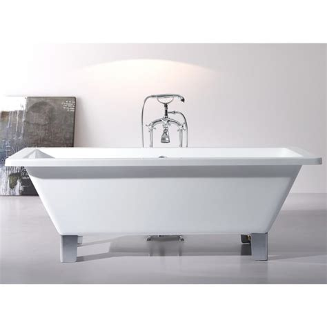 57 Inch Freestanding Tub by Shop Modern Freestanding 71 Inch Acrylic Tub With Square