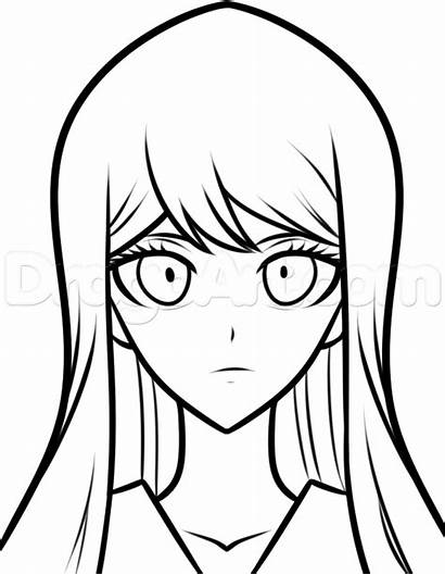 Danganronpa Draw Drawing Step Sayaka Anime Characters