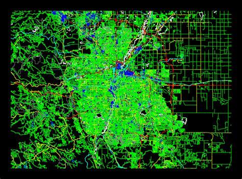 city map denver  autocad  cad   mb