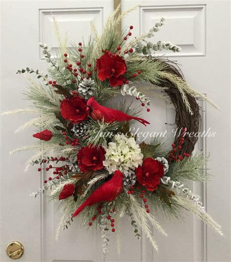 Cardinal Decor - wreath cardinal wreath wreath