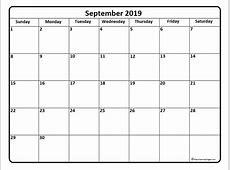 September 2019 calendar 51+ calendar templates of 2019