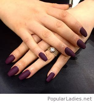 long wine colored nails
