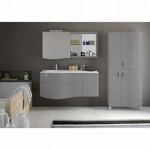 meuble de salle de bains elegance gris perle 130 cm With salle de bain gris perle