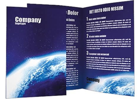 Planet Brochure Template by Blue Planet Brochure Template Design Id 0000001383