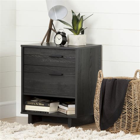 Shore Nightstand by South Shore Fynn Nightstand With Drawers And Cord Catcher