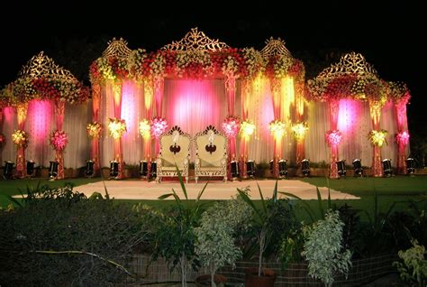 Garden Decoration India by Outdoor Indian Wedding Stage Decorations Wedding