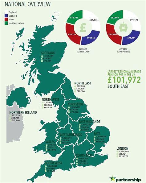 pension pot map   uk revealed   money