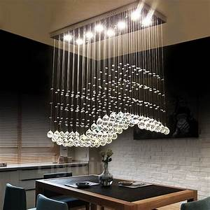 Dimmable, Modern, Led, Crystal, Ceiling, Pendant, Light, Indoor, Chandeliers, Home, Hanging, Down, Lighting