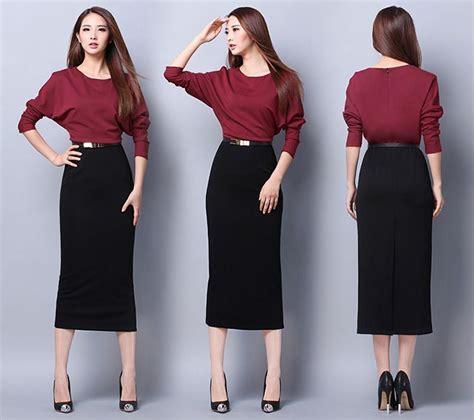 abbigliamento ufficio donna economico plus size abito lungo per le donne donne di