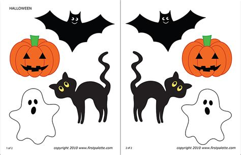 halloween characters  printable templates coloring pages firstpalettecom