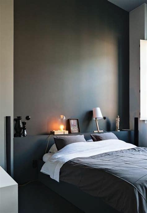 chambre mur gris nos astuces en photos pour peindre une pièce en deux