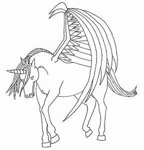 unicorn with wings +lineart+ by royalphoenix on DeviantArt