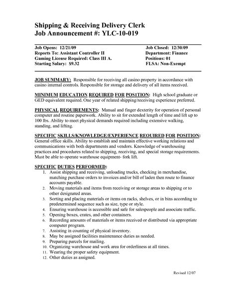 warehouse shipping manager resume shipping and receiving resume 14 warehouse shipping and receiving manager resume dalarcon