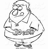 Obese Ukelele Toonaday sketch template