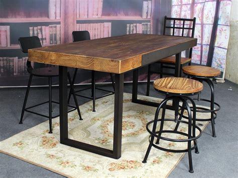 table et chaise restaurant table salle a manger fer et bois maison design bahbe com