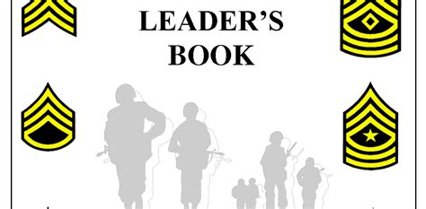 army leaders book template 2017 army leader book