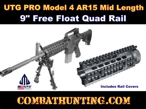 rail quad ar15 float length mid m4 rails usa handguards utg handguard enlarge