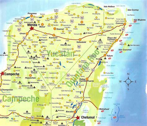 maps map yucatan