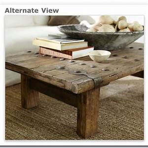 pottery barn rustic door coffee table love for the With rustic door coffee table