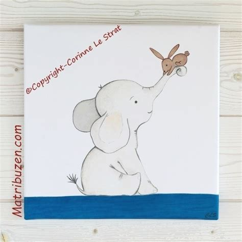 chambre bebe elephant tableau déco chambre enfant et bébé originale idée