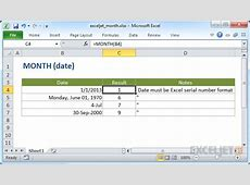 How to use the Excel MONTH function Exceljet