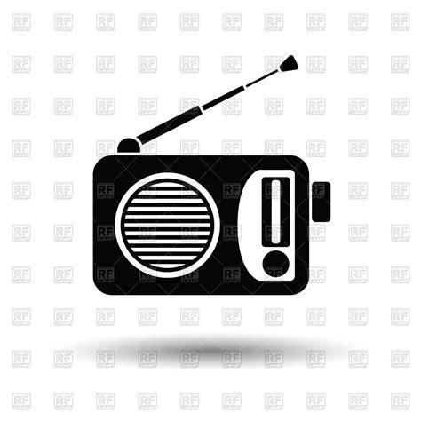 Radio Clipart Radio Icon On White Background Vector Illustration Of