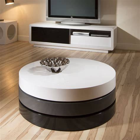 modern white round coffee table coffee table the best exles modern black glass coffee