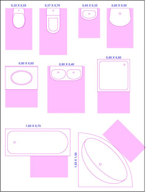 Bathroom Fixture Sizes by Design Your Bathroom Layout